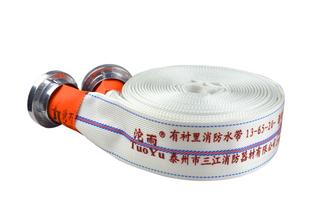 13-65-20有衬里消防水带聚氨酯涤纶长丝